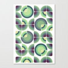 Green Fields Pattern Canvas Print