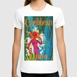 Vintage Caribbean Travel - Cuba T-shirt