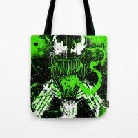 venom Tote Bags featuring Venom by TheAsmek