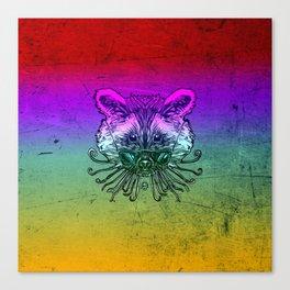 Cool Raccoon Color Canvas Print