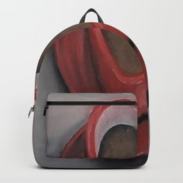 Heart-shaped coffee mug, oil painting by Luna Smith, LuArt Gallery, valentine's day, love, heart Backpack