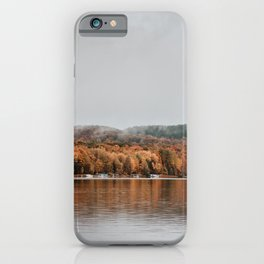 Autumn Lake in Michigan iPhone Case