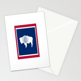flag wyoming,america,usa,west,moutain, equality,Wyomingite,Cheyenne,Casper,Laramie Stationery Cards