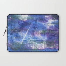 Blue abstract painting Laptop Sleeve