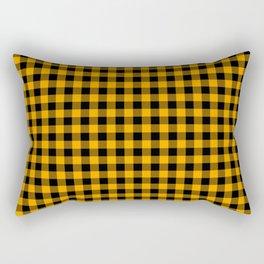 Classic Orange Country Cottage Summer Buffalo Plaid Rectangular Pillow