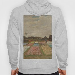 Classic Art - Flower Beds in Holland - Vincent van Gogh Hoody