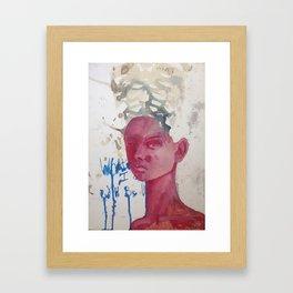 Whatever I do. Oil on paper by Jain McKay. Framed Art Print