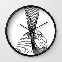 """Script Collection"" - Minimal Letter X Print Wall Clock"
