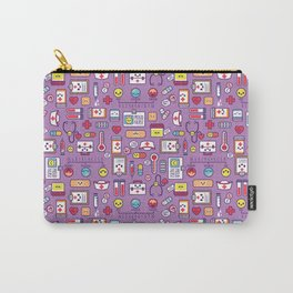 Proud To Be a Nurse Pattern / Purple Carry-All Pouch