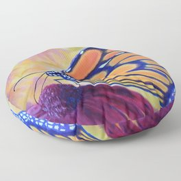 King of butterfly | Le roi des papillons Floor Pillow