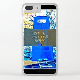Watch Out For Snake Clear iPhone Case