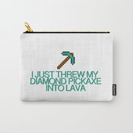 DIAMOND PICKAXE Carry-All Pouch