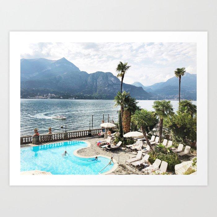 Lake como summers Art Print