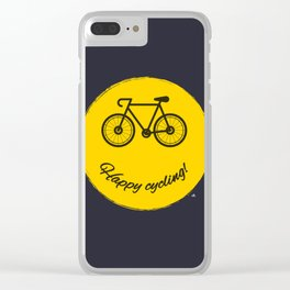Happy cycling Clear iPhone Case