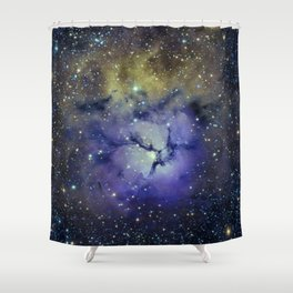 Pansy in Space Shower Curtain