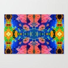 Psychedelic Pink Blue Fractal Canvas Print