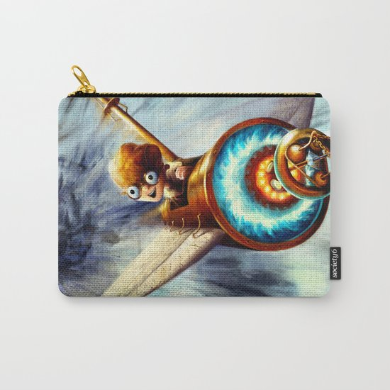 Boy Flying Away in a Plane Carry-All Pouch