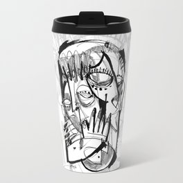 Here for Each Other - b&w Travel Mug