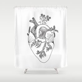 Growing heart Shower Curtain