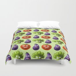 Funny Cartoon Vegetables Duvet Cover