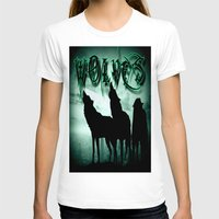 wolves T-shirts featuring WolveS by shannon's art space