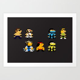 Choose Your Fighter Art Print