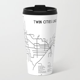 Twin Cities Lines Map Travel Mug