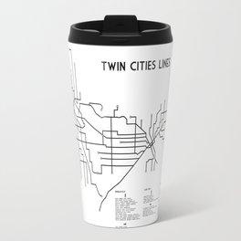 Twin Cities Lines Map Travel Mug