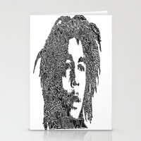 marley Stationery Cards featuring Marley by Travis Poston
