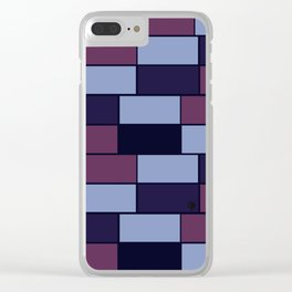 Purple bricks Clear iPhone Case