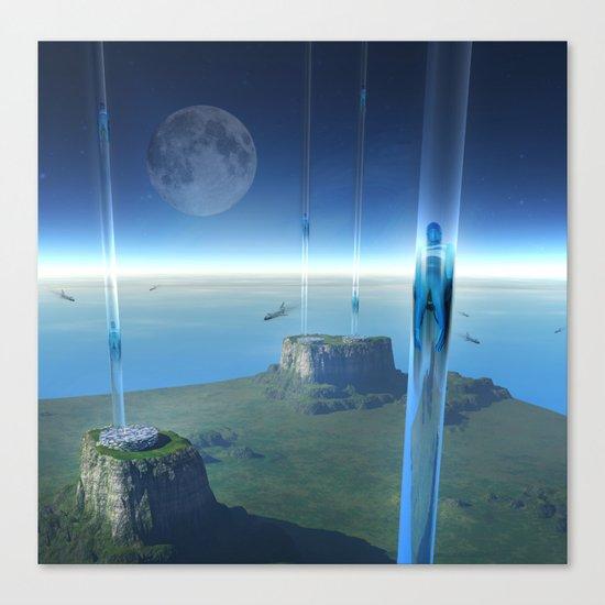 space elevator - babylon transfer station  Canvas Print