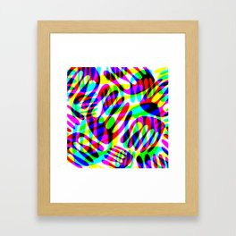 digital hands Framed Art Print