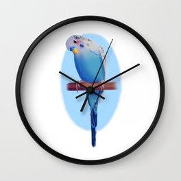 Cutie Budgie Wall Clock