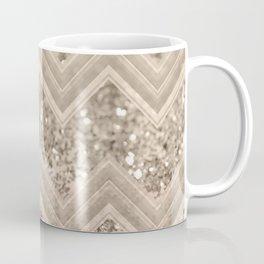 Sepia Glitter Chevron #1 #shiny #decor #art #society6 Coffee Mug