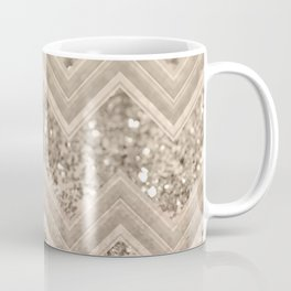 Sepia Glitter Chevron #1 #shiny #decor #art #society6 Coffee Mug