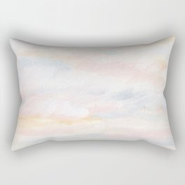 You Are My Sunshine - Gray Pastel Ocean Seascape Rectangular Pillow