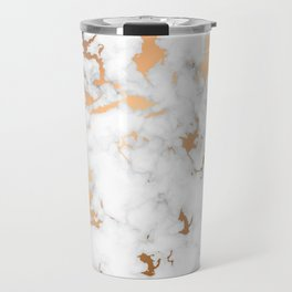Marble Texture with Gold Splatter 040 Travel Mug