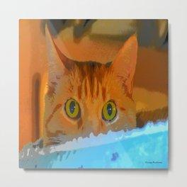 Sir Watson Tabby Digital Cat Metal Print