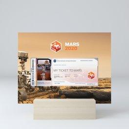 Mars 2020 Ticket Mini Art Print
