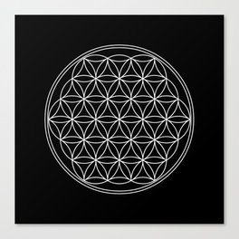 Flower of life on black Canvas Print