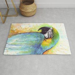 Bird Watercolor Animal Macaw Rug