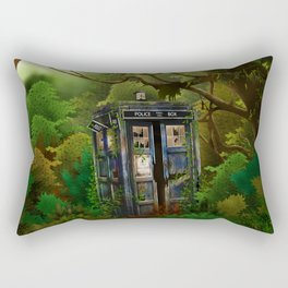 Abandoned Tardis doctor who in deep jungle iPhone 4 4s 5 5s 5c, ipod, ipad, pillow case and tshirt Rectangular Pillow