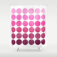 waldo Shower Curtains featuring Color Play Pink by Garima Dhawan
