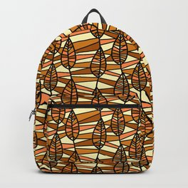 Brown Climbing Vines Pattern Backpack