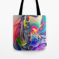 beastie boys Tote Bags featuring Sunrise by Klara Acel