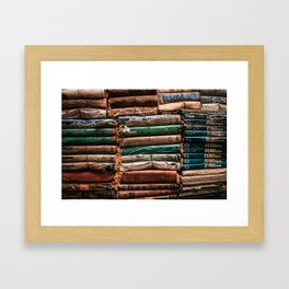 The Acqua Alta Bookshop / Library in Venice Framed Art Print