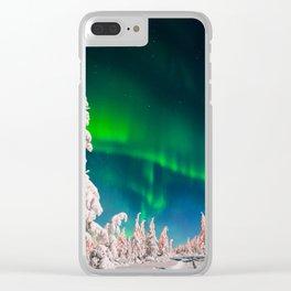 Aurora Pines Clear iPhone Case