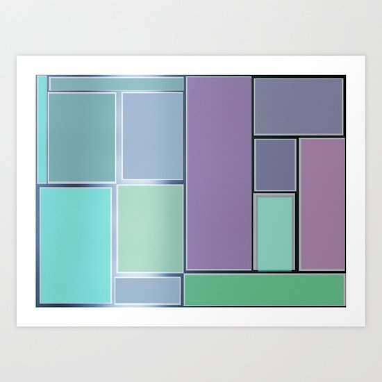 the door and the glazed windows pattern Art Print