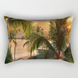 Kauai Tropical Island by OLena Art Rectangular Pillow