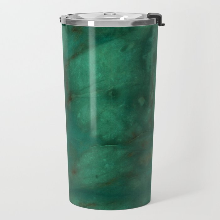 Hunter Green Marble Travel Mug